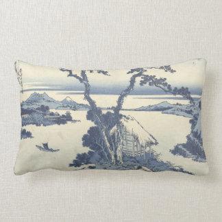 Lake Suwa in Shinano Province Lumbar Pillow