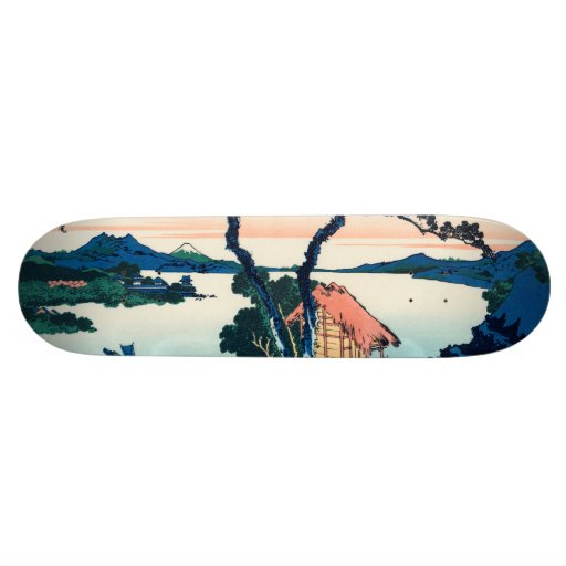 Lake Suwa in Shinano Province Skate Deck