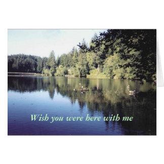 Lake Sylvia Greeting Card