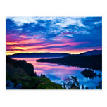 lake, tahoe, sunset, dusk, landscape, nature, lake