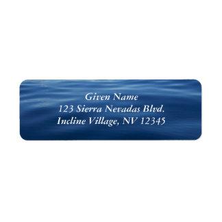 Lake Tahoe Avery Label Return Address Label