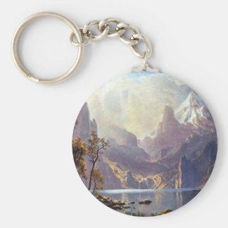 Lake Tahoe by Albert Bierstadt, Vintage Landscape Key Chain