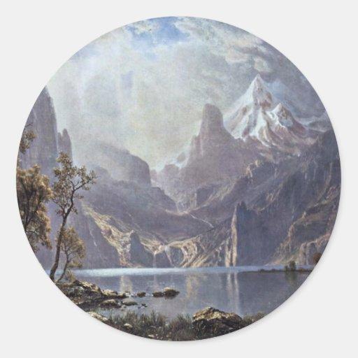 Lake Tahoe By Bierstadt Albert Classic Round Sticker