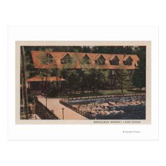 Lake Tahoe, CA - Brockway Resort Lodge View Postcard