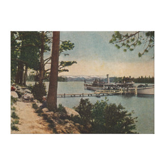 Lake Tahoe, CA - Emerald Bay View with Steamer Canvas Print