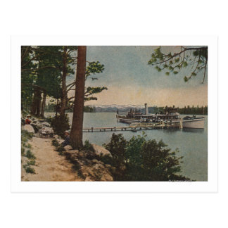 Lake Tahoe, CA - Emerald Bay View with Steamer Postcard