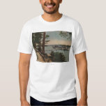 Lake Tahoe, CA - Emerald Bay View with Steamer T-Shirt