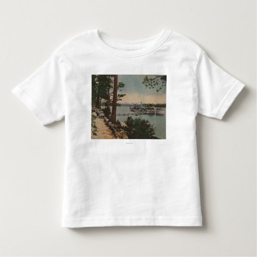 Lake Tahoe, CA - Emerald Bay View with Steamer Toddler T-shirt