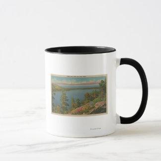 Lake Tahoe, CA - Fallen Leaf Lake and Lake Tahoe Mug