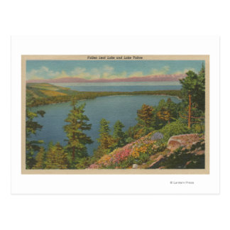 Lake Tahoe, CA - Fallen Leaf Lake and Lake Tahoe Postcard