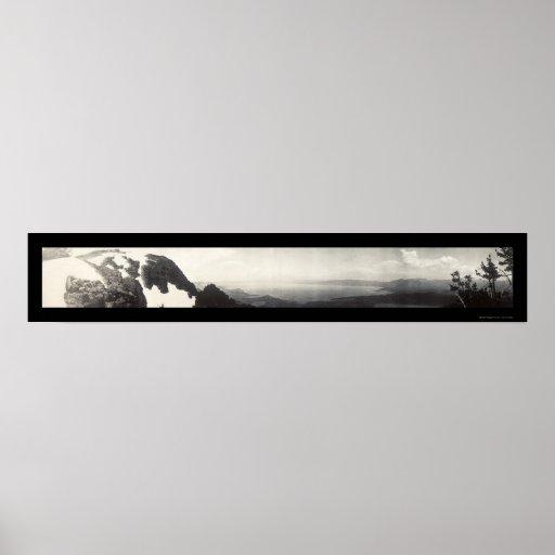 Lake Tahoe CA Panorama Photo 1906 Posters