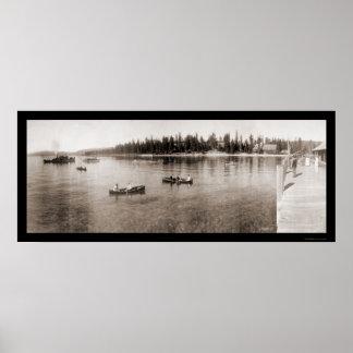 Lake Tahoe, CA Photo 1908 Poster