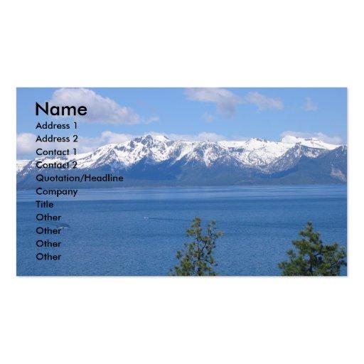 Lake Tahoe California Business Cards