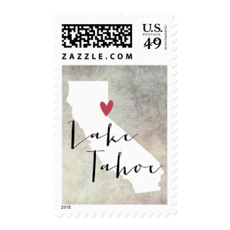 Lake Tahoe, California CA postage stamp