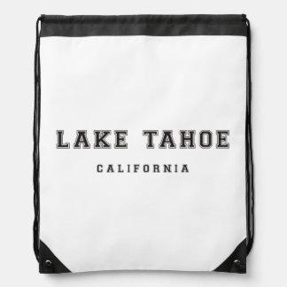 Lake Tahoe California Drawstring Backpack