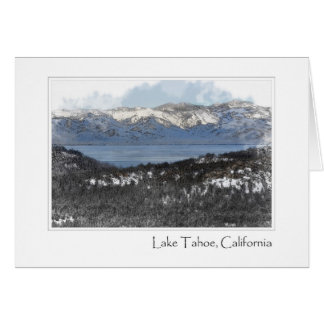 Lake Tahoe California in the Winter Card