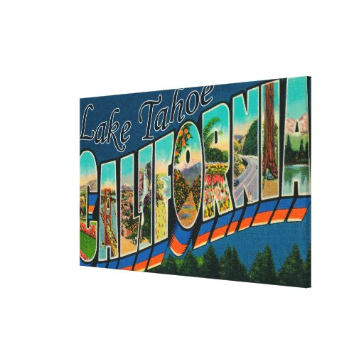 Lake Tahoe, California - Large Letter Scenes 2 Canvas Prints