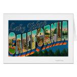 Lake Tahoe, California - Large Letter Scenes 2 Greeting Card