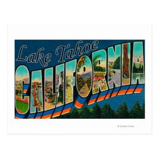 Lake Tahoe California - Large Letter Scenes 2 Postcard