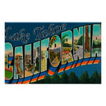Lake Tahoe, California - Large Letter Scenes 2 Poster