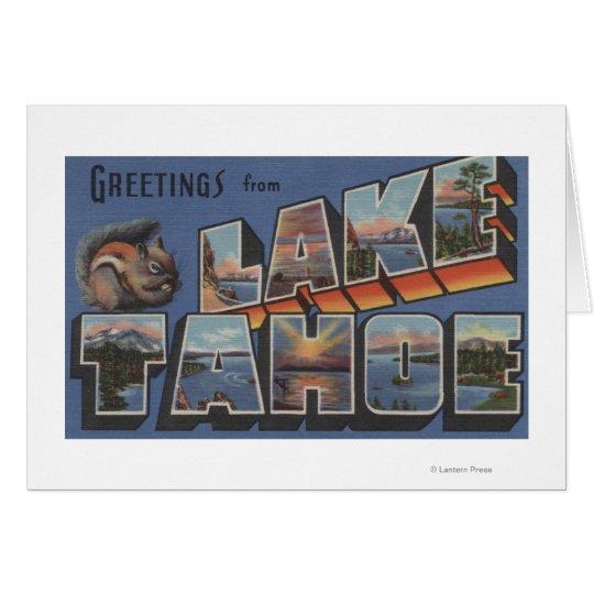 Lake Tahoe, California - Large Letter Scenes Card