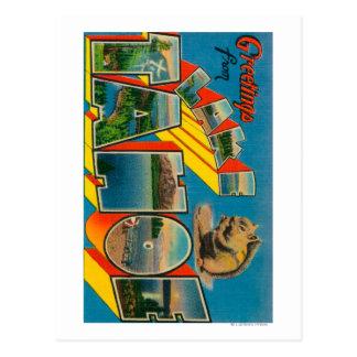 Lake Tahoe, California - Large Letter Scenes Postcard