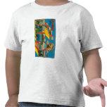 Lake Tahoe, California - Large Letter Scenes Shirt