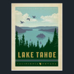 "Lake Tahoe | California &amp; Nevada Postcard<br><div class=""desc"">Anderson Design Group is an award-winning illustration and design firm in Nashville,  Tennessee. Founder Joel Anderson directs a team of talented artists to create original poster art that looks like classic vintage advertising prints from the 1920s to the 1960s.</div>"