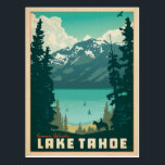 "Lake Tahoe | California & Nevada Postcard<br><div class=""desc"">Anderson Design Group is an award-winning illustration and design firm in Nashville,  Tennessee. Founder Joel Anderson directs a team of talented artists to create original poster art that looks like classic vintage advertising prints from the 1920s to the 1960s.</div>"