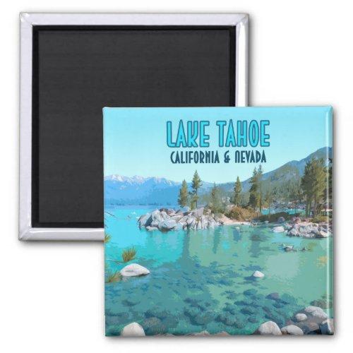 Lake Tahoe California Nevada Vintage Magnet
