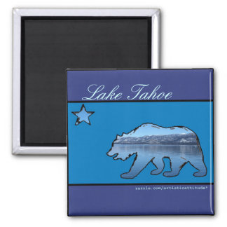 Lake Tahoe California state bear artistic magnet