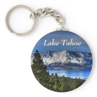 Lake Tahoe California Sunset Emerald Bay Keychain