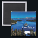 """Lake Tahoe California Travel Photo Fridge Magnets<br><div class=""""desc"""">Tip: Dated travel souvenir magnets are a fun way to keep a chronology of your travels and it&#39;s easy to add a date.</div>"""
