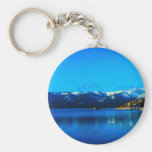 Lake Tahoe Collection Basic Round Button Keychain