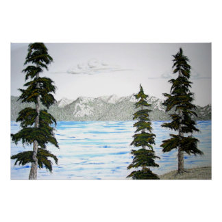 Lake Tahoe in Summer Poster