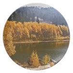 Lake Tahoe in the Fall / Winter Landscape Melamine Plate