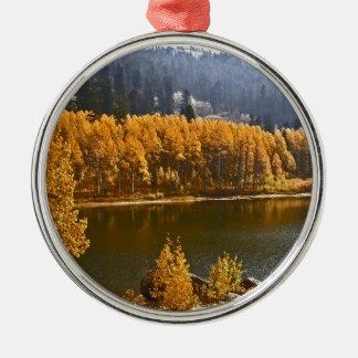 Lake Tahoe in the Fall / Winter Landscape Metal Ornament