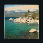 "Lake Tahoe Landscape Wooden Coaster<br><div class=""desc"">Pristine,  emerald waters of Lake Tahoe</div>"