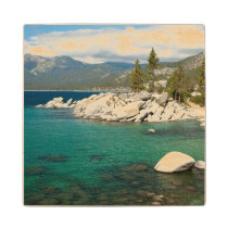 Lake Tahoe Landscape Wooden Coaster