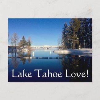 Lake Tahoe Love Postcard