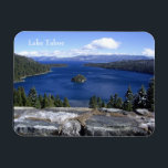 "Lake Tahoe Magnet<br><div class=""desc"">Add this magnet to your fridge or file cabinet and get several to share with friends and family.</div>"
