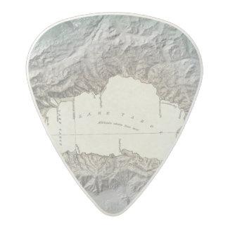 Lake Tahoe map Acetal Guitar Pick