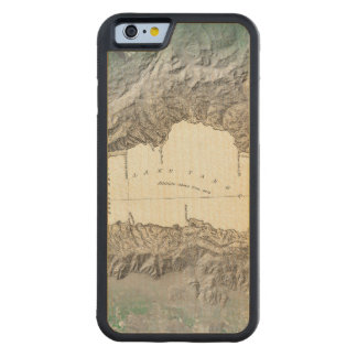 Lake Tahoe map Carved Maple iPhone 6 Bumper Case