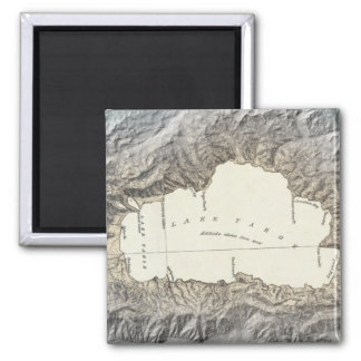 Lake Tahoe map Magnet