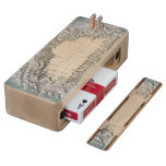 Lake Tahoe map Maple Cribbage Board