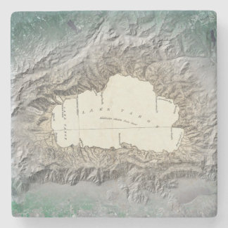 Lake Tahoe map Stone Coaster