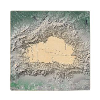 Lake Tahoe map Wooden Coaster
