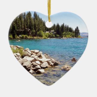 Lake Tahoe Nevada Ceramic Ornament
