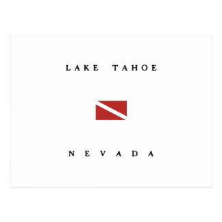 Lake Tahoe Nevada Scuba Dive Flag Postcard