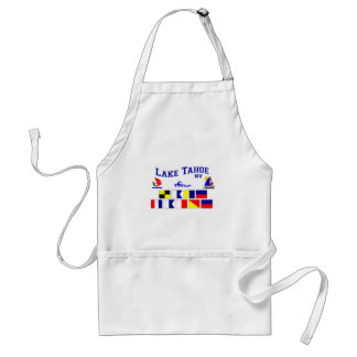 Lake Tahoe NV Signal Flags Adult Apron
